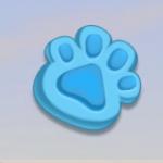 Copy Cats - Symbol - Blå Kattepote