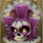 Grim Muerto - symbol stearinlys